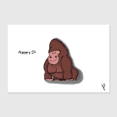 Happy J: n Gorilla Thomek - Juliste 60x40 cm