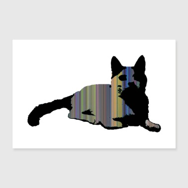 Strip Cat 2 - Poster 24 x 16 (60x40 cm)