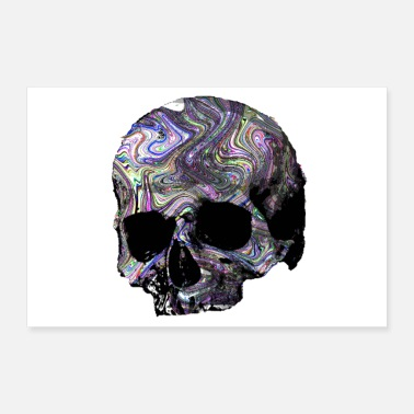 Swag Skull, colorful patterned - Poster 24 x 16 (60x40 cm)