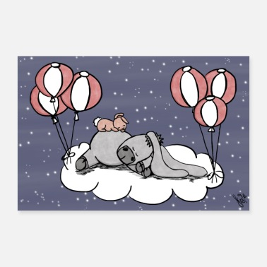 Mummy Happy J's Sweet Dreams - Poster 60x40 cm