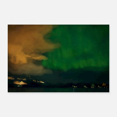 Light northern lights - Poster 24 x 16 (60x40 cm)
