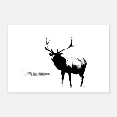 Advent Reindeer by the | site - Poster 24 x 16 (60x40 cm)