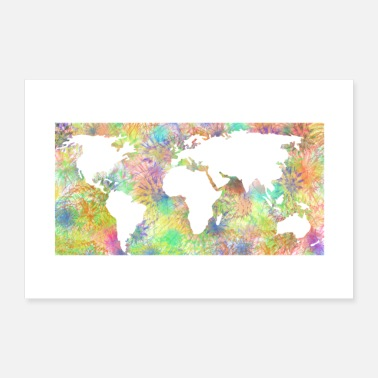 Fireworks Fireworks World Map Poster - Poster
