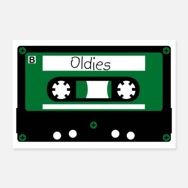 Cassette Cassettes oldie - Poster