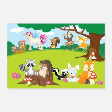 Scuola Poster Forest Animals ... Nursery - Poster