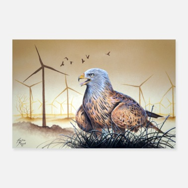 Wind Red Kite vs Wind Energy - Poster