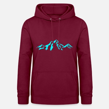 Scenery Mountain scenery / Mountains blue - Women's Hoodie