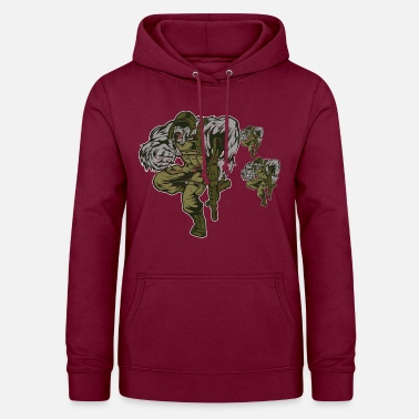 Soldier Monkey Gorilla Paintball - Women's Hoodie