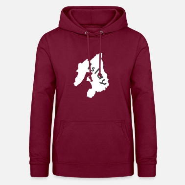 Map of the whiskey island Islay in Scotland - Women's Hoodie