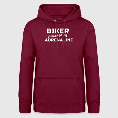 Biker Powered By Adrenaline - Bluza damska z kapturem