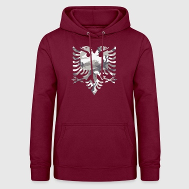 Military Snow Albanian flag - Women's Hoodie