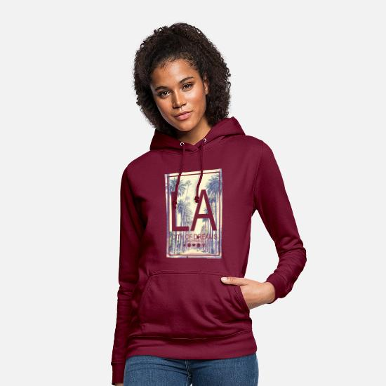 Smileys Sweaters & hoodies - SmileyWorld LA City Of Dreams - Vrouwen hoodie bordeaux