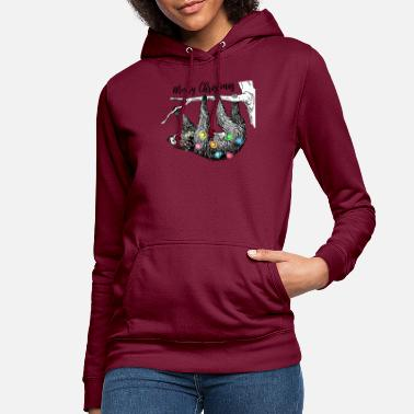 Christmas Xmas Faultier... Ugly Christmas - Weihnachten - Frauen Hoodie