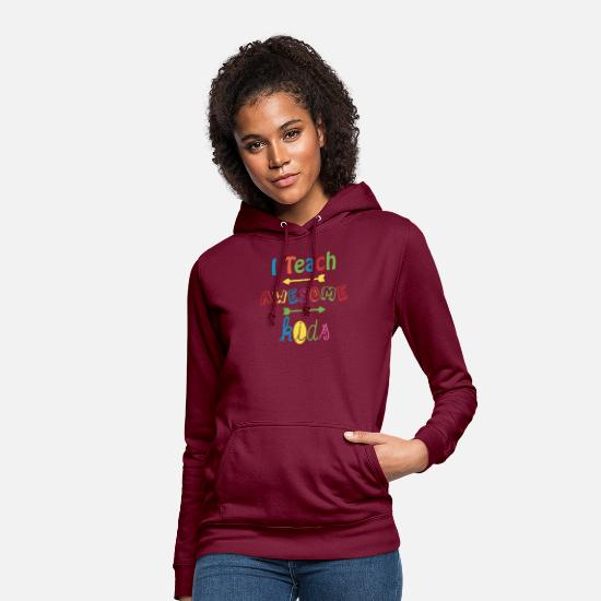 Education Hoodies & Sweatshirts - Autism I Teach Awesome Kids Autism Awareness - Women's Hoodie bordeaux