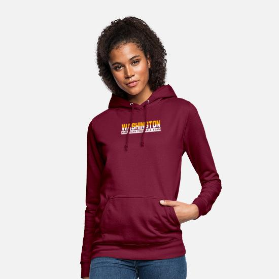 Ville Sweat-shirts - Washington Fotball - Sweat à capuche Femme bordeaux
