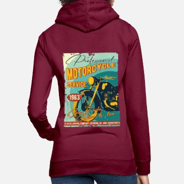 Antique Dealers 1963, motorcycle vintage biker, 57th birthday gift - Women's Hoodie