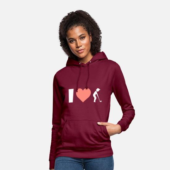 Love Hoodies & Sweatshirts - Golf I love playing golf - Women's Hoodie bordeaux