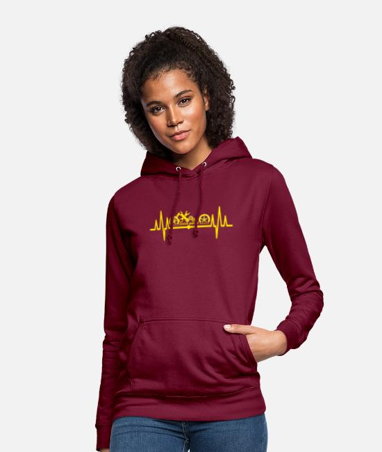Motorcycle Hoodies & Sweatshirts - Chopper yellow - Women's Hoodie bordeaux