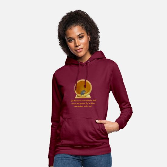 Hamster Hoodies & Sweatshirts - Hamster on hamster wheel - Women's Hoodie bordeaux