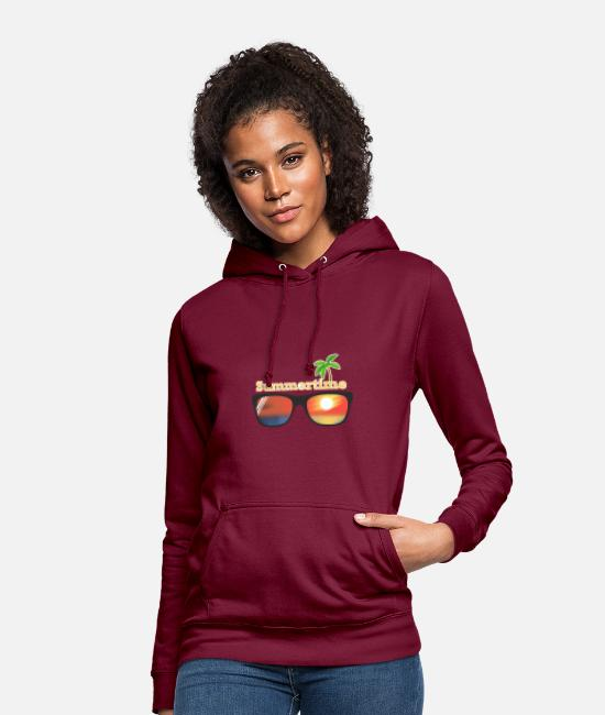 Travel Bug Hoodies & Sweatshirts - Summertime - Women's Hoodie bordeaux