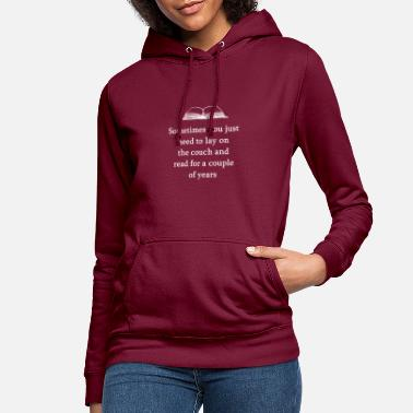Book Books reading hobby couch bookworm gift idea - Women's Hoodie