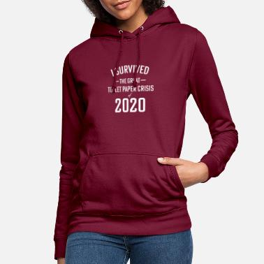 Papier Corona I survived toilet paper crisis 2020 shirt - Vrouwen hoodie
