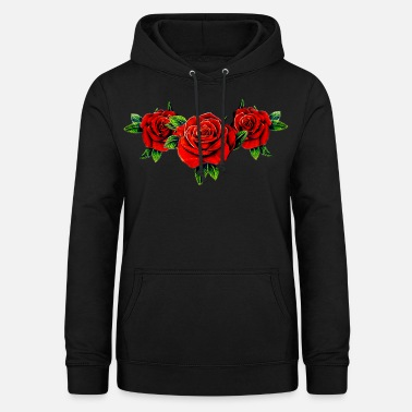 Red Rose squad roses - Women's Hoodie