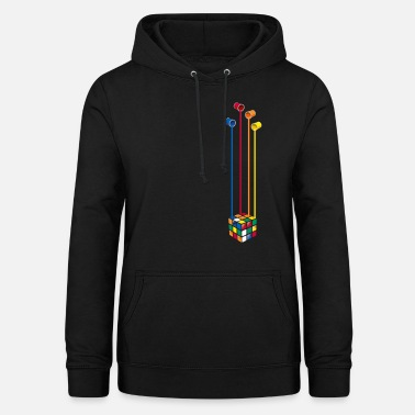 Rubik's Cube Colourful Paint Buckets - Vrouwen hoodie