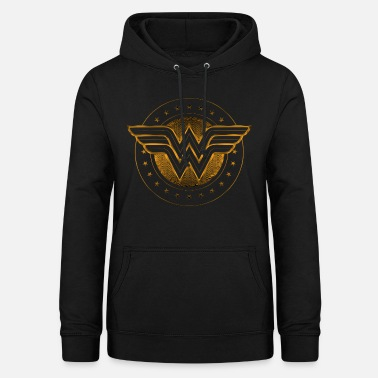 Wonder Woman Comic Logo gold - Frauen Hoodie