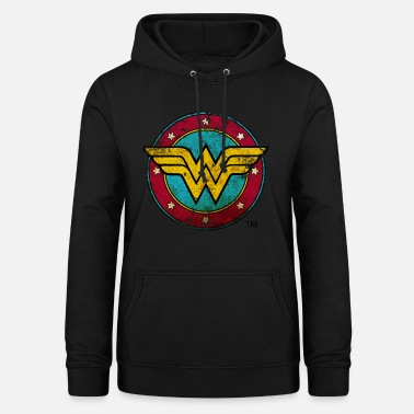 Wonder Woman Logo Distressed - Hettegenser for kvinner