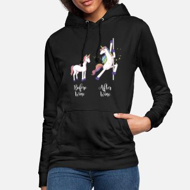 Magic &amp Before & after wine before & after wine Unicorn horse - Women's Hoodie