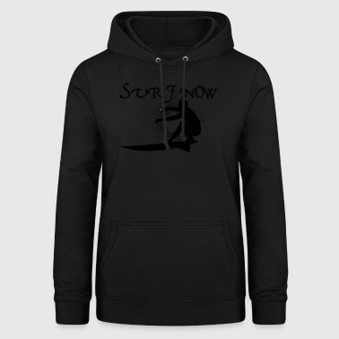 surf now 3 black - Women's Hoodie