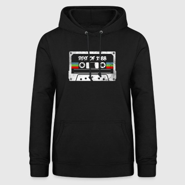 30th birthday t shirt vintage 1988 gift - Women's Hoodie