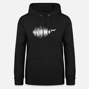Frequency Heart Rate Frequency Airplane Jet Pilot Shirt - Women's Hoodie