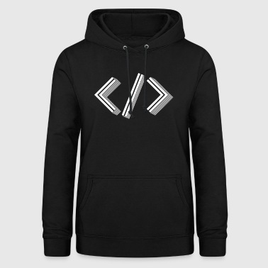 Retro Bracket's - Full Stack Developer HTML XML - Women's Hoodie