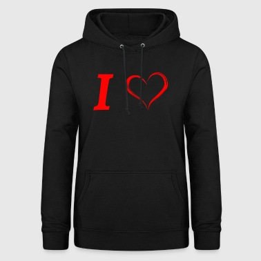 I love I love in Love - Sweat à capuche Femme
