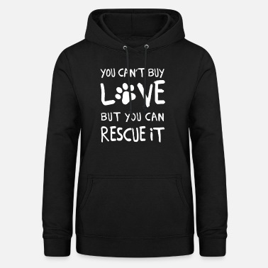 Rescue Dog Dog Adotion Gift Dogs Gassi Rescue Dog Paw - Women's Hoodie