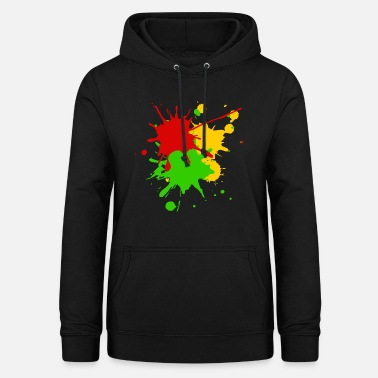 Splash Reggae colors Africa Roots flag color splashes - Women's Hoodie