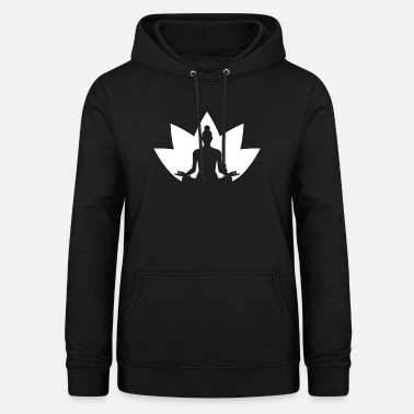 Meditation with Lotus Blossom - Yoga - Zen - Women's Hoodie