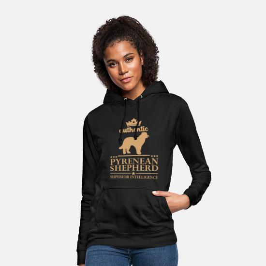 Cute Dog Hoodies & Sweatshirts - Pyrenees Shepherd - Dog Gift T-Shirt - Women's Hoodie black