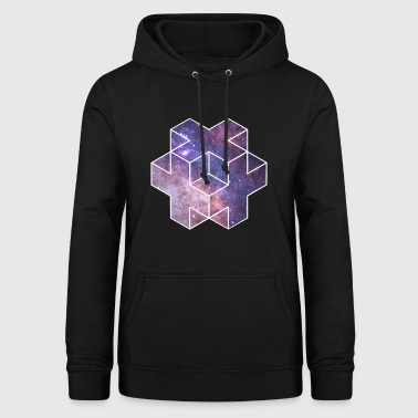 Galaxy Plus Dice Star Astro Space Nasa - Felpa con cappuccio da donna