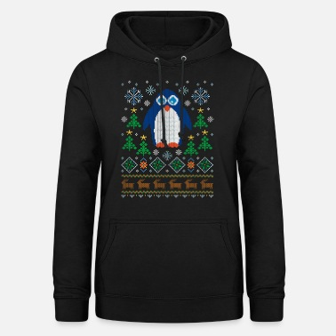 Ugly Christmas Sweater (Pinguin) - Frauen Hoodie