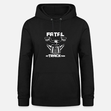 Track Cycling Awesome Cycling Cyclist Puns Fatal At Track Tion - Women's Hoodie