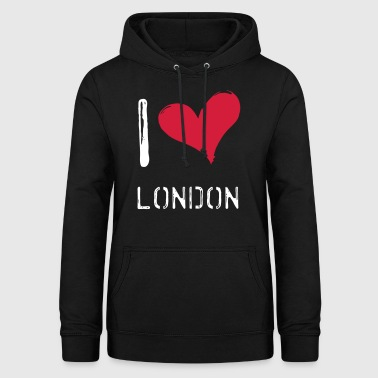 I love London - Sweat à capuche Femme