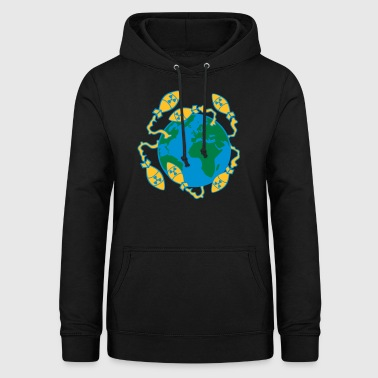 3 world war nuclear war world end war atombomb - Women's Hoodie