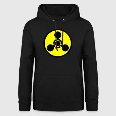 Chemical Weapon Hazard Symbol - Felpa con cappuccio da donna