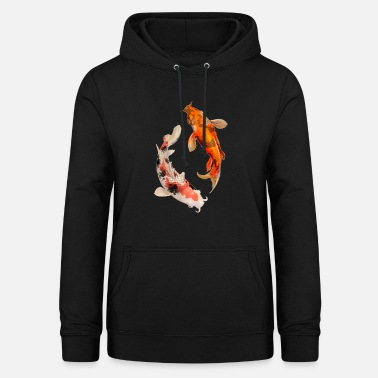 Koi Koi - fish fish animal pet sweet gift - Women's Hoodie