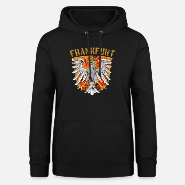 Frankfurt city Wappenadler Design - Gold Edition - Women's Hoodie