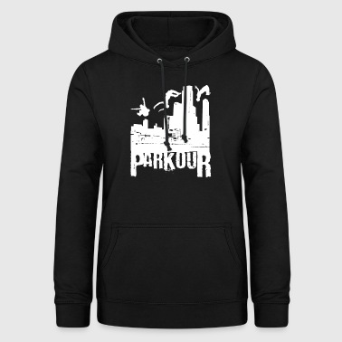 Cadeau Parkour Le Parcour Freerunning Backflip - Sweat à capuche Femme
