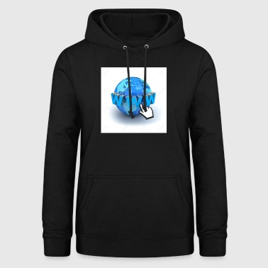 14821565-Internet World-Wide-Web-Konzept-Erde-glo - Frauen Hoodie